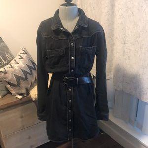 Topshop Moto Jean dress - size 8